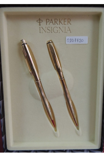 PARKER INSIGNIA GOLD PLATED SET